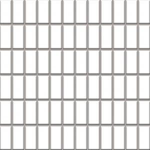 Mozaika ścienno-podłogowa Paradyż Altea Bianco 30x30 (2,3x4,8)