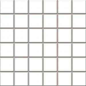 Mozaika ścienno-podłogowa Paradyż Altea Bianco 30x30 (4,8x4,8)