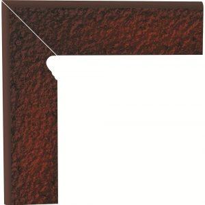 Cokół dwuelementowy strukturalny schodowy Paradyż Cloud Duro Brown lewy 30x8,1x1,1