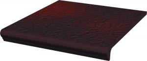 Stopnica z kapinosem prosta strukturalna Paradyż Cloud Duro Brown 30x33x1,1