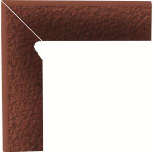Cokół dwuelementowy strukturalny schodowy Paradyż Cloud Duro Rosa lewy 30x8,1x1,1