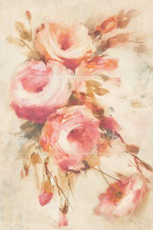 Dekoracja ścienna Paradyż Coraline Panel Róże 60x90