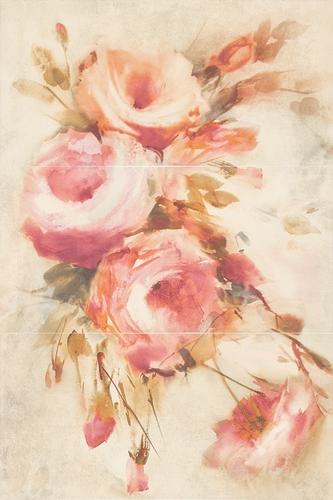 Dekoracja ścienna Paradyż Coraline Panel Róże 60x90 @