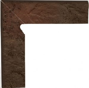 Cokół dwuelementowy  schodowy Paradyż Semir Brown prawy 30x8,1x1,1