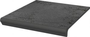 Stopnica z kapinosem prosta  Paradyż Semir Grafit 30x33x1,1