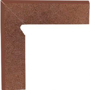 Cokół dwuelementowy schodowy Paradyż Taurus Brown lewy 30x8,1x1,1