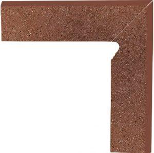 Cokół dwuelementowy schodowy Paradyż Taurus Brown prawy 30x8,1x1,1