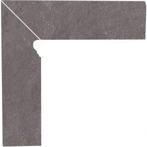 Cokół dwuelementowy schodowy Paradyż Taurus Grys lewy 30x8,1x1,1