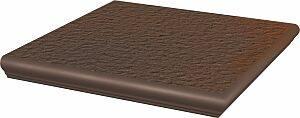 Stopnica narożna Paradyż 330x330x11 z kapinosem strukturalna Natural Brown Duro