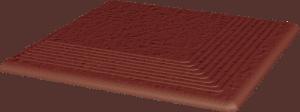 Stopnica ryflowana narożna strukturalna Paradyż Natural Rosa Duro 300x300x11