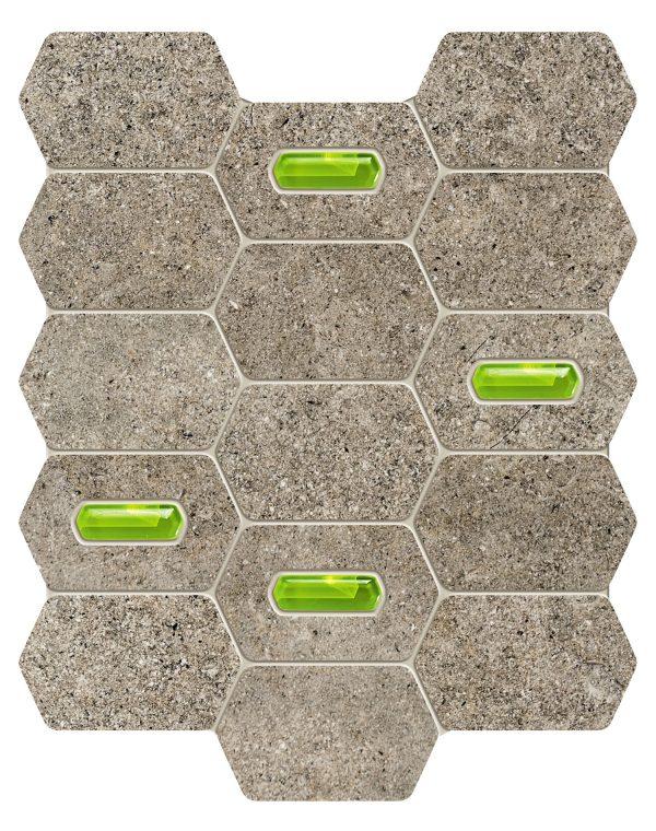 Zdjęcie Mozaika ścienna Tubądzin Lemon Stone Grey 25×29,8cm @