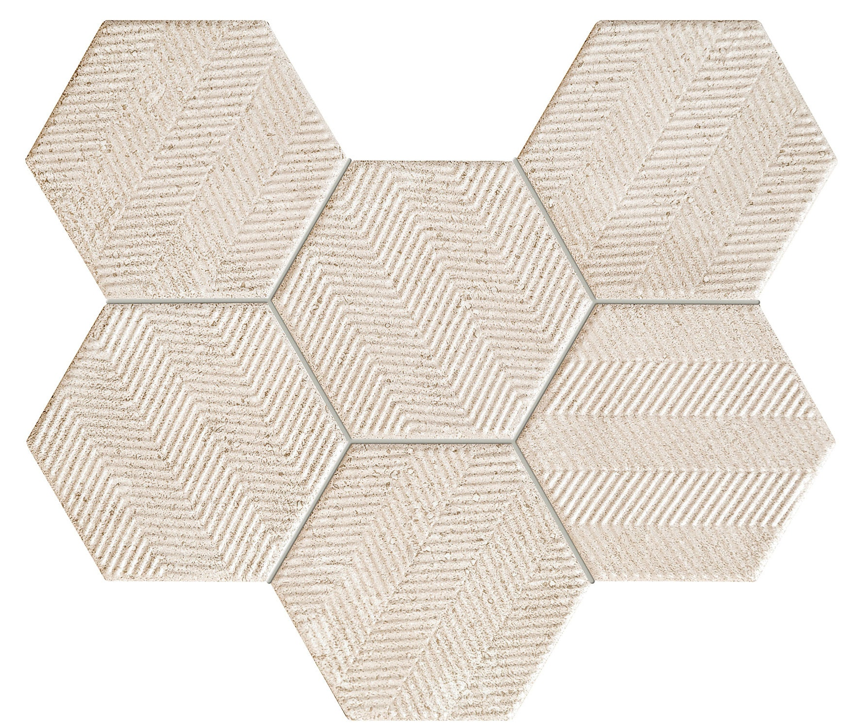 Mozaika ścienna Tubądzin Sfumato Hex Mat 28,9x22,1cm tubSfuHexMoz289x221