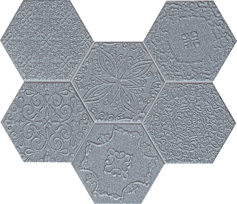 Mozaika Ścienna Tubądzin Lace Graphite 28,9x22,1cm tubLacGra289x221