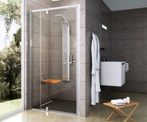 Drzwi prysznicowe pivotowe Ravak Pivot PDOP2 100 cm Satin/Satin 03GA0U00Z1