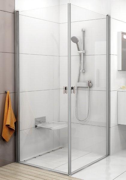 Kabina prysznicowa narożna Ravak Chrome CRV1-90 satyna Transparent 2x1QV70U01Z1