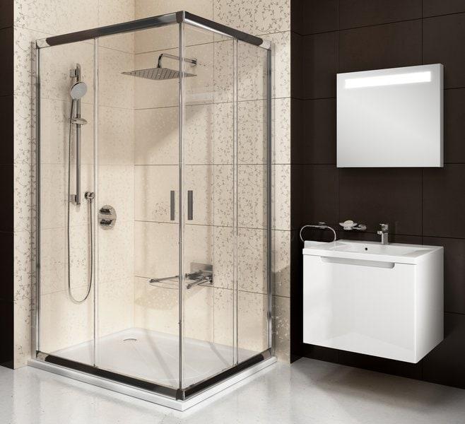 Kabina prysznicowa Ravak Blix BLRV2K-90 chrom połysk Transparent 2x1XV70C00Z1