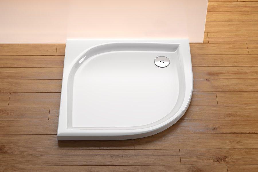 Brodzik 1/4 koła prysznicowy Ravak Elipso EX 100x100