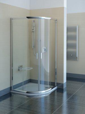 Kabina prysznicowa suwana 1/4 koła Ravak Blix BLCP4 80x80 3B240C00Z1