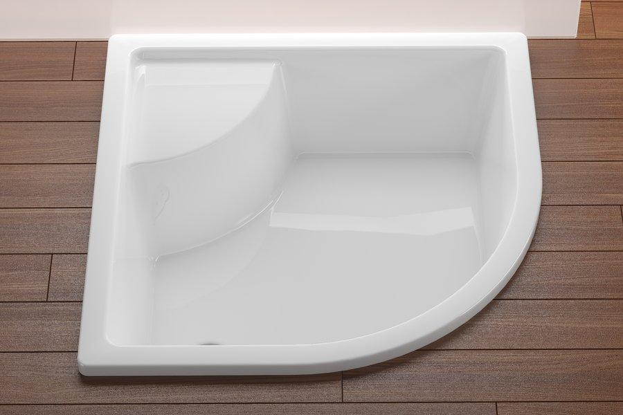 Brodzik 1/4 koła prysznicowy z siedziskiem Ravak Sabius LA GPX11001