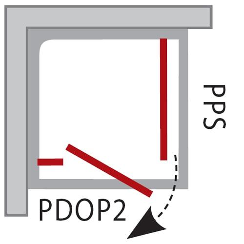 Zdjęcie Ścianka stała Ravak Pivot PPS 80 cm Biała 90G40100Z1