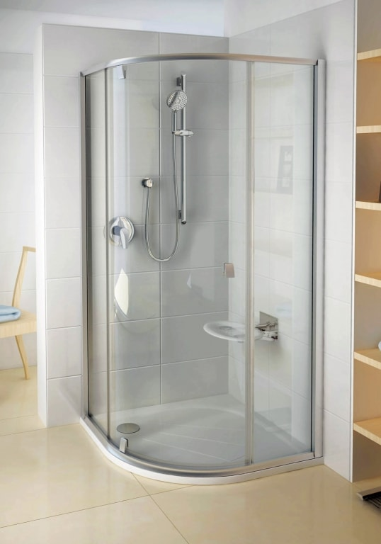 Kabina prysznicowa pivotowa 1/4 koła Ravak Pivot PSKK3 100x100 Satin/Satin 376AAU00Z1