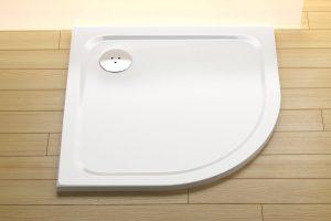 Brodzik półokrągły 90 cm biały Ravak Elipso Pro Chrome XA247701010