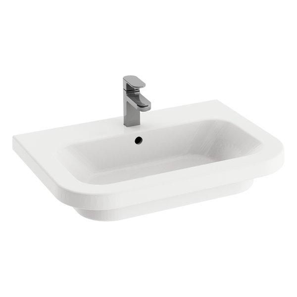 Umywalka podwieszana Ravak Chrome 650 ceramiczna biała XJG01165000