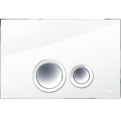Zdjęcie Przycisk spłukujący Jomo Werit Elegance Szkło białe/chrom połysk 167-2900GLWE-00 @