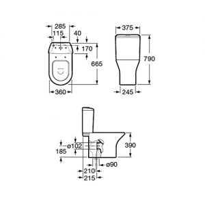 Zdjęcie WC kompakt Roca Nexo A341640..0+A342640..0
