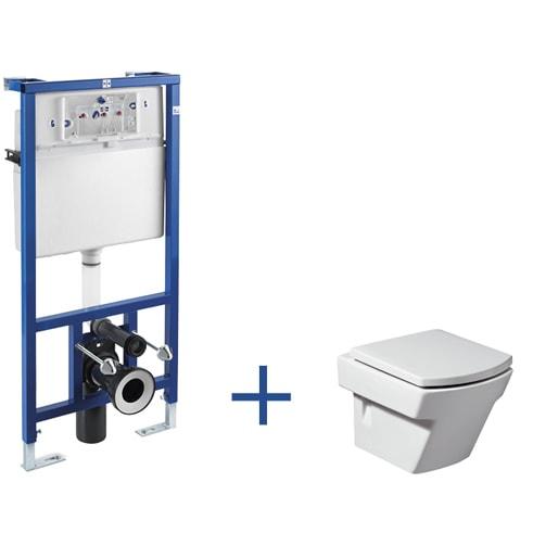 Stelaż podtynkowy Roca PRO + miska WC podwieszana Roca Hall A89009000H