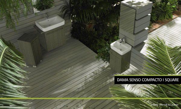 Zdjęcie Umywalka Roca Dama Senso Compacto i Square 60cm A32751B000 @