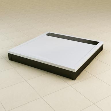 Brodzik konglomeratowy kwadratowy SanSwiss Ronal Ila WIQ 100x100 biały WIQ1000404