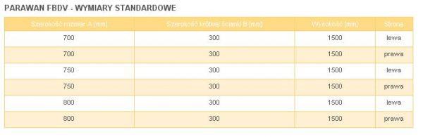 Zdjęcie Parawan jednocz. ze ścianką ruchomą SanSwiss Ronal Fun FBD2 Prawy 80cm FBD208005007