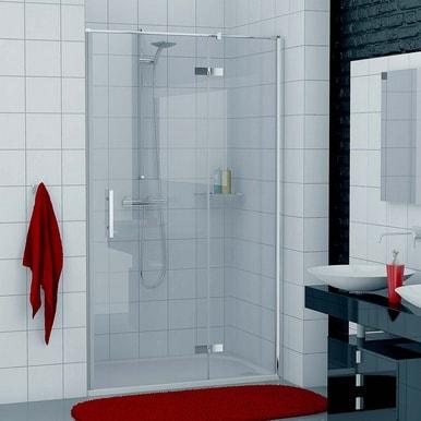 Drzwi jednoczęściowe ze ścianką stałą do wnęki SanSwiss Ronal Pur Prawe 100cm PU13PD1001007