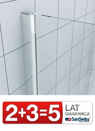 Zdjęcie Drzwi jednoczęściowe ze ścianką stałą do wnęki SanSwiss Ronal Pur Lewe 140cm PU13PG1401007