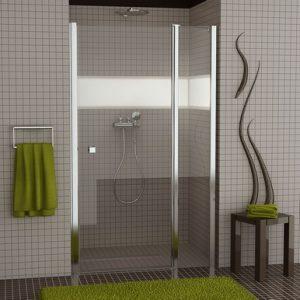 Drzwi jednoczęściowe wahadłowe ze stałym segm. SanSwiss Ronal Swing-Line 80cm połysk SL1308005007
