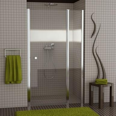 Drzwi jednoczęściowe wahadłowe ze stałym segm. SanSwiss Ronal Swing-Line 140cm mat SL1314000107