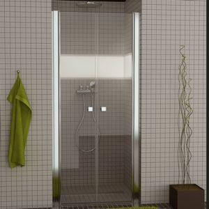 Drzwi dwuczęściowe wahadłowe SanSwiss Ronal Swing-Line SL2 70cm połysk SL207005007