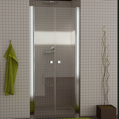 Drzwi dwuczęściowe wahadłowe SanSwiss Ronal Swing-Line SL2 100cm połysk SL210005007