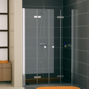 Drzwi dwuczęściowe składane SanSwiss Ronal Swing-Line F SLF2 120cm mat SLF212000107