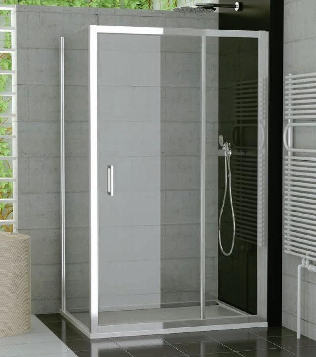Drzwi jednoczęściowe ze ścianką stałą SanSwiss Ronal Top-Line 120cm połysk TED12005007 @