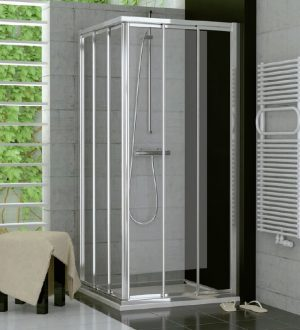 Drzwi suwane trzyczęściowe SanSwiss Ronal Top-Line 70cm Prawe połysk TOE3D07005007