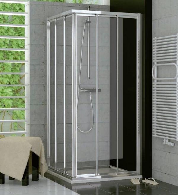 Zdjęcie Drzwi suwane trzyczęściowe SanSwiss Ronal Top-Line 120cm Prawe mat TOE3D12000107