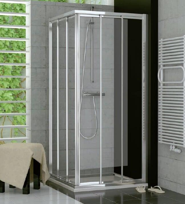 Drzwi suwane trzyczęściowe SanSwiss Ronal Top-Line 80cm Prawe mat TOE3D08000107