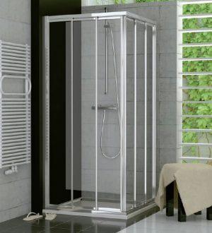 Drzwi suwane trzyczęściowe SanSwiss Ronal Top-Line 70cm Lewe połysk TOE3G07005007