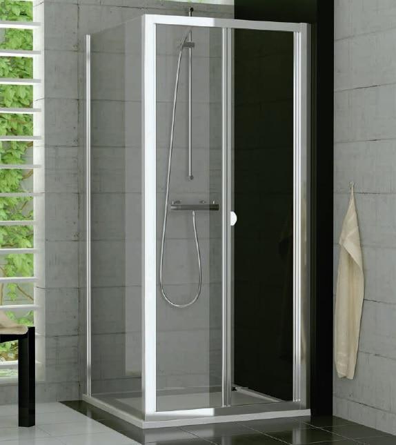 Drzwi dwuczęściowe przesuwno-składane SanSwiss Ronal Top-Line 80cm mat TOPK08000107