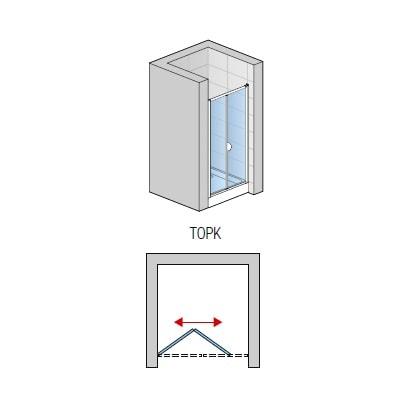 Zdjęcie Drzwi dwuczęściowe przesuwno-składane SanSwiss Ronal Top-Line 70cm mat TOPK07000107
