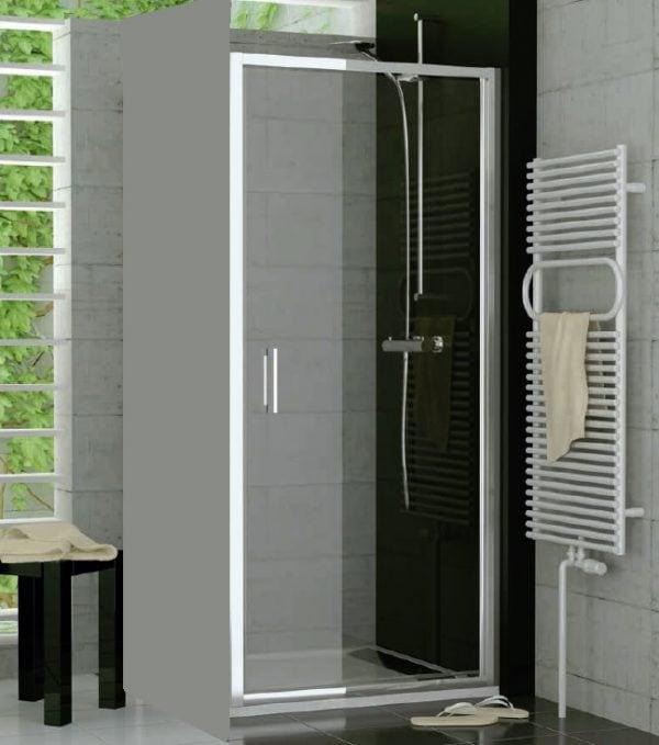 Zdjęcie Drzwi jednoczęściowe wahadłowe SanSwiss Ronal Top-Line 80cm mat TOPP08000107