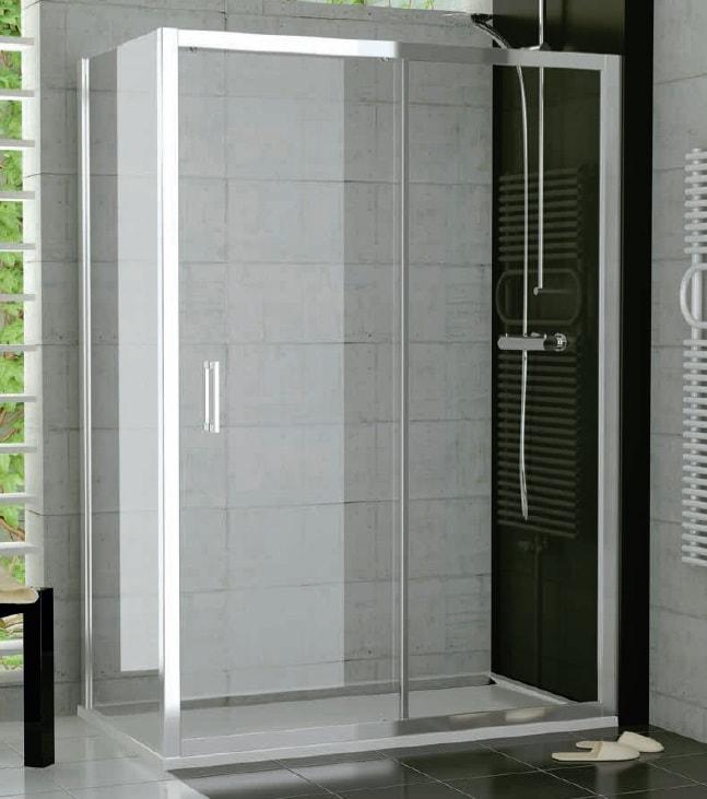 Drzwi dwuczęściowe suwane SanSwiss Ronal Top-Line 160cm połysk TOPS216005007