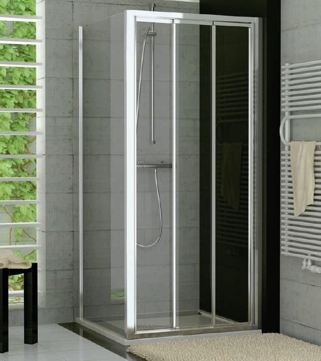 Drzwi trzyczęściowe suwane SanSwiss Ronal Top-Line 120cm połysk TOPS312005007